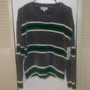 Chenille Cloud Chaser Striped Sweater Sz XL